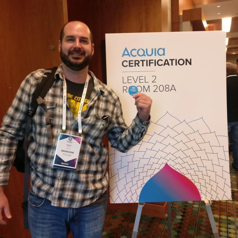 EC staff getting Acquia certified at DrupalCon